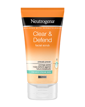 Neutrogena<sup>®</sup> <br>Clear & Defend Facial Scrub