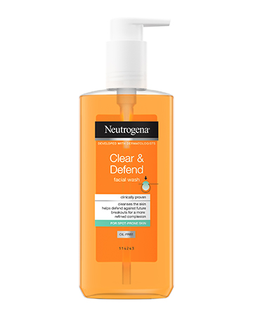 Neutrogena<sup>®</sup> <br>Clear & Defend <br>Facial Wash