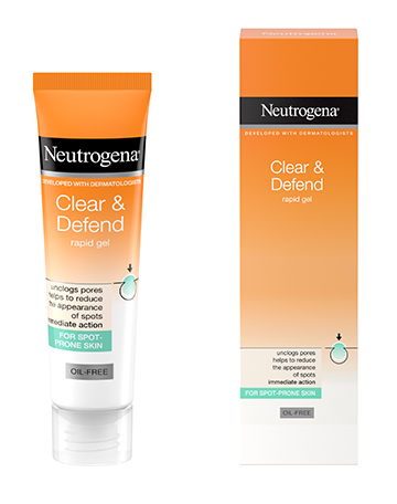 Neutrogena<sup>®</sup> <br>Clear & Defend Rapid Gel