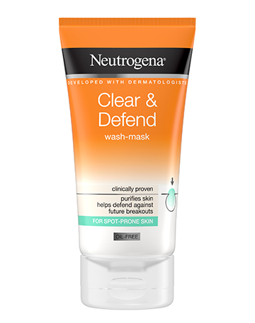 Neutrogena<sup>®</sup> <br>Clear & Defend <br>Wash-Mask