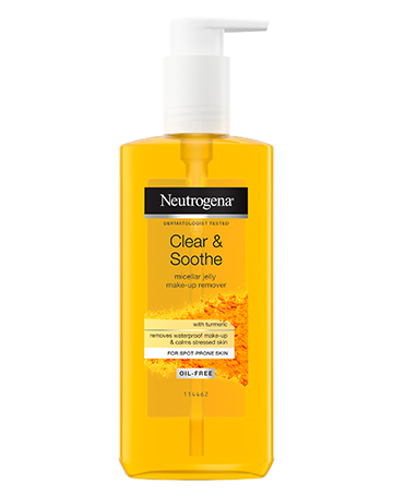 Neutrogena<sup>®</sup> <br>Clear & Soothe <br>Micellar Jelly Make-up <br>Remover