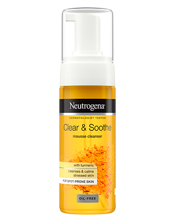 Neutrogena<sup>®</sup> <br>Clear & Soothe <br>Mousse Cleanser