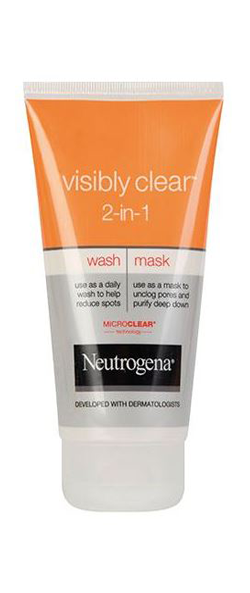 NEUTROGENA VISIBLY CLEAR<sup>®</sup> 2in1 Wash Mask