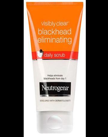 NEUTROGENA VISIBLY CLEAR<sup>®</sup> Blackhead Eliminating Daily Scrub