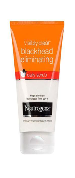 NEUTROGENA VISIBLY CLEAR<sup>®</sup> Blackhead Eliminating Daily Scrub