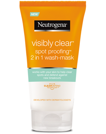 VISIBLY CLEAR® Spot Proofing™ 2in1 Wash Mask