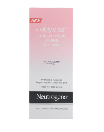NEUTROGENA VISIBLY CLEAR<sup>®</sup> Pink Grapefruit Oil-Free Moisturiser