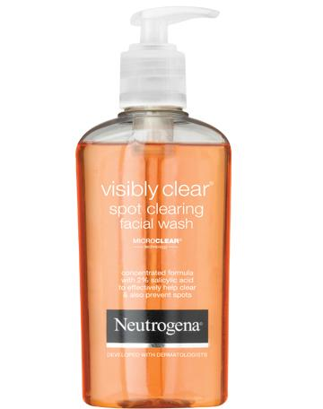 NEUTROGENA VISIBLY CLEAR<sup>®</sup> Spot Clearing Facial Wash