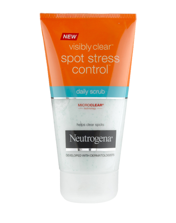 NEUTROGENA VISIBLY CLEAR<sup>®</sup> Spot Stress Control Daily Scrub